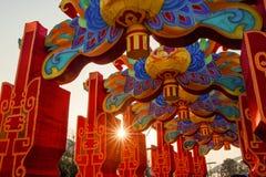 Città internazionale 2016 di carnevale della lanterna magica di Shanghai di luce Fotografie Stock