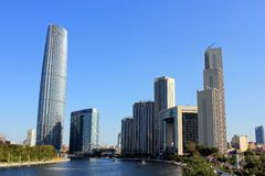 Città italiana di Tianjin in Cina Immagini Stock