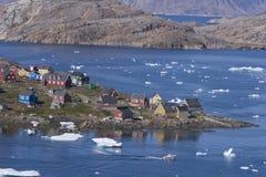 Città Kulusuk in Groenlandia Fotografia Stock Libera da Diritti