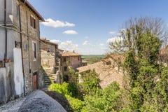 Citt? medievale di Artena, Lazio, Italia immagine stock