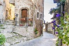 Citt? medievale di Artena, Lazio, Italia fotografie stock