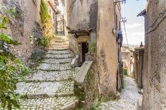 Citt? medievale di Artena, Lazio, Italia immagini stock
