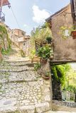 Citt? medievale di Artena, Lazio, Italia fotografie stock libere da diritti