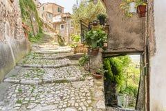 Citt? medievale di Artena, Lazio, Italia fotografia stock