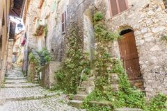 Citt? medievale di Artena, Lazio, Italia immagini stock libere da diritti