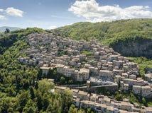 Citt? medievale di Artena, Lazio, Italia fotografia stock libera da diritti