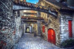 Città medievale in Europa Immagine Stock Libera da Diritti