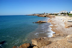 Città mediterranea di Vinaroz in Spagna Immagini Stock Libere da Diritti