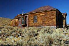 Città occidentale di estrazione mineraria del fantasma dell'oro degli S.U.A. di bodie Fotografia Stock Libera da Diritti