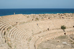 Città romana di Leptis Magna, Libia Immagini Stock