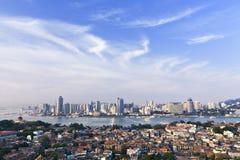 Città sul mare Immagine Stock
