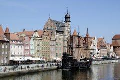 Città Vecchia storico di Danzica in Polonia Fotografia Stock Libera da Diritti