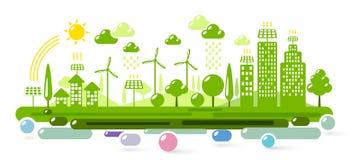 Città verde di Eco Fotografia Stock Libera da Diritti