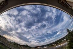 Citta della Pieve, Perugia, himlen på aftonen Royaltyfri Fotografi