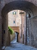 Citta della Pieve, Perugia, Italien, historisk stad Arkivbild