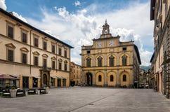 CittA?di Castello (翁布里亚)广场Matteotti 免版税库存图片