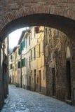 cittA? di Castello (翁布里亚) 库存图片