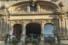 Citta di Castello, balkong Arkivfoto