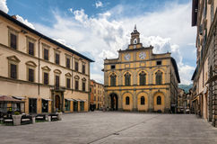 Citta di Castello & x28; Umbria& x29;广场Matteotti 免版税图库摄影