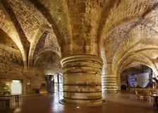 Cittadella in Akko, Akre, San Giovanni d'Acri, ` San Giovanni d'Acri, Israele, e media di Jean d del san Immagini Stock