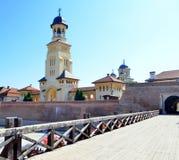 Cittadella bianca della Carolina in Alba Iulia, Romania immagini stock