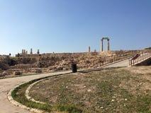 Cittadella di Amman Immagini Stock