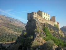 Cittadella di Corte, Corsica Immagini Stock