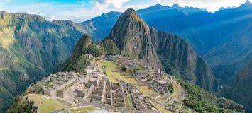 Cittadella di Machu Picchu immagine stock libera da diritti