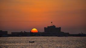 Cittadella di Qaytbay al tramonto fotografie stock