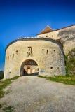 Cittadella di Rașnov (rumeno: Cetatea Râșnov) fotografia stock libera da diritti