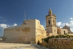 Cittadella Gozo. Newly restored bastion wall curtain at Cittadella in Gozo Stock Photography
