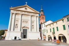 Cittadella Italien: Sikt av Duomo di Cittadella Royaltyfria Bilder
