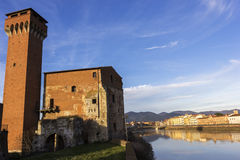 Cittadella Medicea with its Torre Guelfa in Pisa in Italy Royalty Free Stock Image