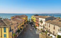Cittadella Sirmione sul lago Garda Immagine Stock