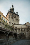 Cittadella medievale - torre di orologio Fotografia Stock Libera da Diritti
