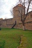 Cittadella rotonda con l'alta torretta di sorveglianza Fotografie Stock Libere da Diritti
