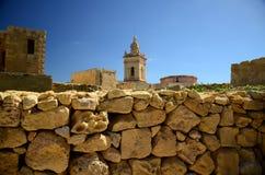 Cittadella wierza kasztel w Wiktoria Rabat miasteczku, Gozo wyspa, Mal zdjęcia royalty free