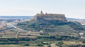 Cittadellaen Gozo Arkivfoton