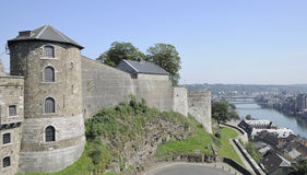 Cittadelle tower and ramparts, namur Royalty Free Stock Image