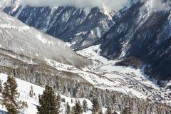 Cittadina in montagne Fotografia Stock