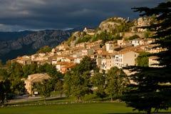 Cittadina in Provenza (Francia) fotografia stock