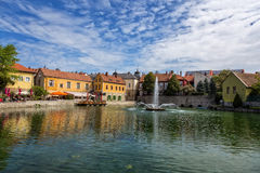 Cittadina Tapolca (Ungheria) Fotografia Stock