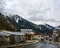 Cittadina in valle di Naran, Pakistan Immagine Stock Libera da Diritti