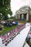 Cittadini americani alla festa dell'indipendenza Fotografie Stock