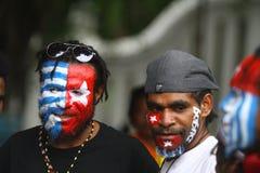 Cittadini interessati di azione della Papuasia immagine stock libera da diritti