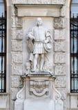 Cittadini o cittadino della città da Emmerich Alexius Swoboda di Wikingen, di Neue Burg o di New Castle, Vienna, Austria fotografie stock libere da diritti