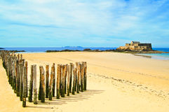Cittadino della fortificazione di Malo del san. Brittany, Francia Fotografia Stock Libera da Diritti