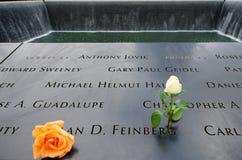 Cittadino 9/11 di memoriale al ground zero Fotografie Stock