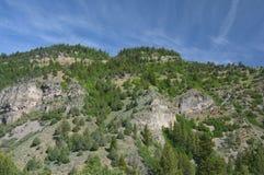 Cittadino Forest Escarpment And Blue Sky del nascondiglio Fotografia Stock