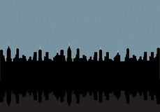 City at night background
